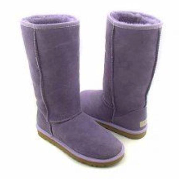 ugg shoes light purple size 8 tall boots poshmark rh poshmark com